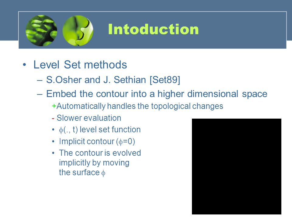 Intoduction Level Set methods S.Osher and J. Sethian [Set89]